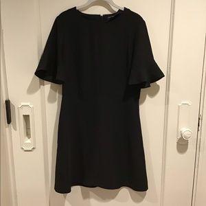 Black short sleeve mini dress
